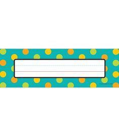"Make every student feel special with these personalized nameplates in this appealing, contemporary Teal Appeal design.  Pack includes 36 nameplates measuring 9.5"" x 2.875"" . These convenient nameplates are ideal for desk or cubby assignments or to label and organize your classroom!  Look for coordinating products in this design to create a colorful and inviting classroom theme!"