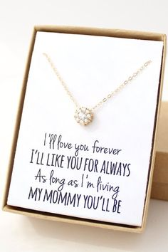 Wedding day gifts for mom families 53 ideas Xmas Gifts For Mom, Presents For Mom, Christmas Presents, Holiday Gifts, Niece Gifts, Christmas Goodies, Wedding Day Gifts, Bride Gifts, Wedding Ideas