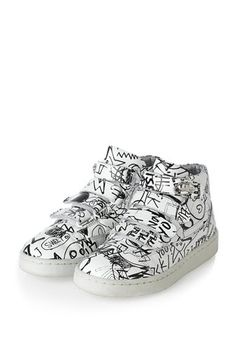 5a3781bb369 Little Marc Jacobs leather graffiti sneakers
