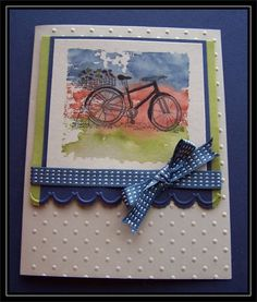 Acrylic Block bike by TrishG - Cards and Paper Crafts at Splitcoaststampers