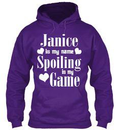 Janice Is My Name Purple Sweatshirt Front