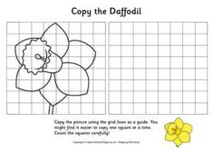 This webpage has tons of grid practice pages. Sub lesson! Daffodil Grid Copy.