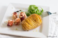 Delicious chicken rolls with schwarzwald ham and crispy hasselback potatoes