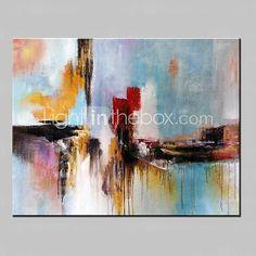 Peint à la main Abstrait / FantaisieModern Un Panneau Toile Peinture à l'huile Hang-peint For Décoration d'intérieur de 2016 ? $34968