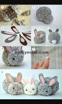 Kids Discover Trends: Pom pom - Me (Lele) he and the kids crafts for kids for teens to make ideas crafts crafts Kids Crafts Cute Crafts Craft Projects Arts And Crafts Bunny Crafts Craft Tutorials Cute Diys Rabbit Crafts Easter Crafts For Adults Kids Crafts, Bunny Crafts, Cute Crafts, Diy And Crafts, Craft Projects, Craft Tutorials, Rabbit Crafts, Decor Crafts, Easter Crafts For Adults