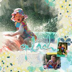 Summer Splash by Janet Scott @ Pixelscrapper BEach memories mgic template 3 by NBK Design Layout Inspiration, Aqua Blue, Digital Scrapbooking, Memories, Templates, Gallery, Beach, Artist, Layouts