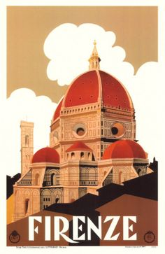 ITALY - FLORENCE - Vintage travel poster - Firenze