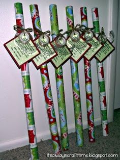 Cute neighbor gift idea: It's wrapping paper tape, and the tag reads Since November you've been shopping, barely sleeping, hardly stopping. Now it's late, you're in a scrape, out of paper or out of tape. Hope this wrap helps save the day! Have a Happy Holiday!