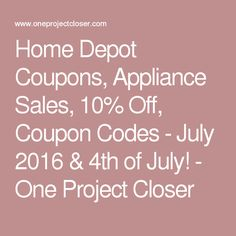 4th of july appliance sales home depot