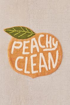 Shop Peachy Clean Bath Mat at Urban Outfitters today. We carry all the latest styles, colors and brands for you to choose from right here. Bathroom Cleaning, Bathroom Rugs, Bathroom Ideas, Stone Bathroom, Bathroom Trends, Bathroom Designs, My New Room, My Room, Dorm Room