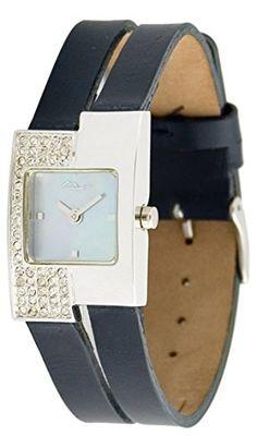 Moog Paris--Damen-Armbanduhr Zifferblatt blau Himmel Armband dunkelblau Leder Rindleder, hergestellt in Frankreich-m44052F-006 - http://uhr.haus/moog-paris/moog-paris-damen-armbanduhr-zifferblatt-blau-in-f