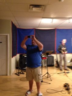 Rehearsal time for the P. C. Band.