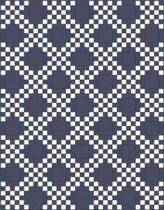 Двухместный Ирландский Сеть Одеяло шаблон - прямо набор