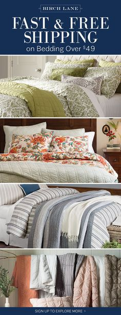 Bedding at birchlane.com! Sign up to find out more about FREE SHIPPING on all orders over $49!
