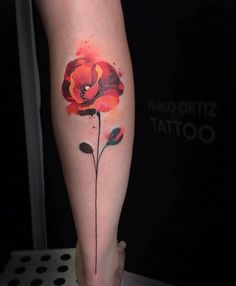 Wild Poppy tattoo by Pablo Ortiz Tattoo Time Tattoos, Body Art Tattoos, New Tattoos, Sleeve Tattoos, Cool Tattoos, Bohemian Tattoo, Aquarell Tattoo, Poppies Tattoo, Botanical Tattoo