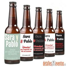 Venta de cerveza personalizada artesanal. detalles para boda