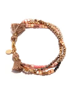 Trendy bracelet with goldplated pieces an eyecatcher by lidart, €27.00