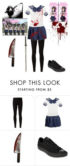 """""""Yandere Simulator"""" by shadow-cheshire ❤ liked on Polyvore featuring Rick Owens Lilies and Converse"""