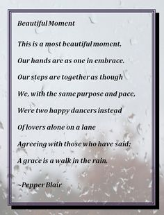 'Beautiful Moment' by Pepper Blair