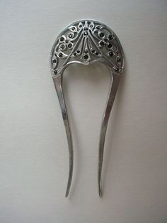 Beautiful Antique Hand Cut Aluminum Paste Ladies Hair Comb Art Deco Nouveau | eBay