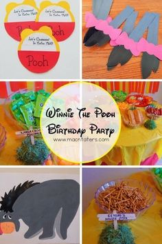 Winnie the Pooh Birthday Party Ideas-We threw a Winnie the Pooh Birthday party our daughter's second birthday and we are sharing all our party ideas and details. This is the perfect Disney party theme  for both boys and girls including many DIY crafts and ideas to make the party a success.