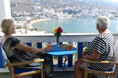 Unforgettable view to #Batsi of #Andros, from #Skrekos_Villa Veranda!