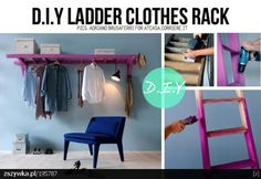 diy ladder clothes rack
