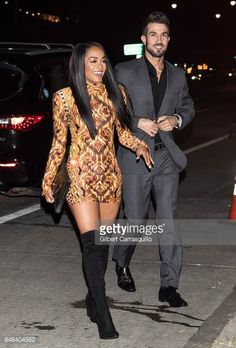 TV personalities Bryan Abasolo and Rachel Lindsay are seen leaving the Blonds fashion show during New York Fashion Week The Shows at Gallery Mixed Couples, Couples In Love, Cute Relationship Goals, Cute Relationships, Rachel Lindsay, Biracial Couples, Interacial Couples, Interracial Family, Cute Couples Goals