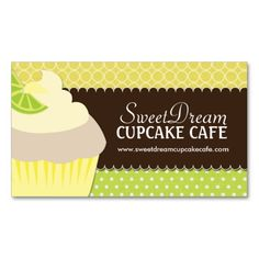 Cute pink and green bakery business card bakery business cards cute and whimsical cupcake bakery business cards reheart Choice Image