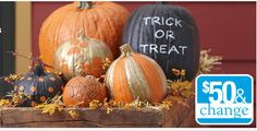 Transform an ordinary pumpkin into a work of art with a little gold and black spray paint