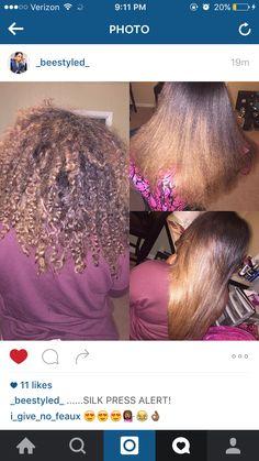 Silk Press! Natural Hair! By Brandi Henry!