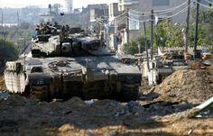Merkava in Gaza. 2004