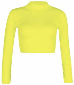 a88ed8286ed WOMENS ROUND NECK LONG SLEEVE CROP TOP T SHIRT TOPS LADIES CROP TOP SIZE UK  6