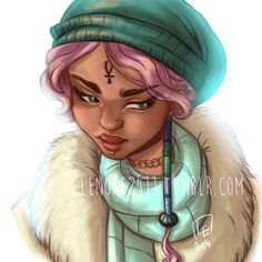 lenore_lovecat  Lolli - warming up with @loisvb amazing tutorial on drawing female faces.