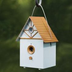 The Ultrasonic Barking Dog Deterrent - Hammacher Schlemmer - Disguised as a birdhouse, this patented outdoor behavior modification device quickly and humanely restores peace and quiet for those vexed by a dog's barking. Dog Deterrent, Dog Control, Stop Dog Barking, Dog Whistle, Hammacher Schlemmer, Outdoor Living, Outdoor Decor, Pet Beds, Bird Houses