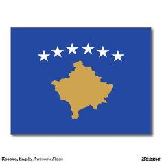 Kosovo, flag postcard