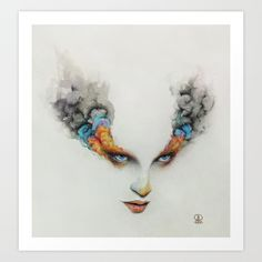 Burning Eyes Art Print by Ronald Restituyo - $19.00
