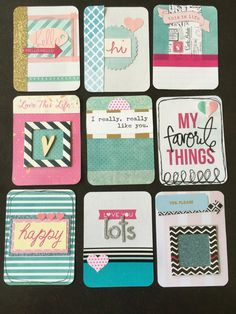 Handmade Project Life cards- Made by Riley- handmade, Journaling, Project Life, planner, junk journal, smashbook, scrapbooking
