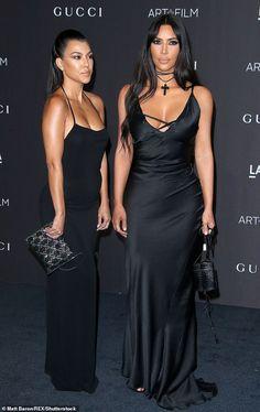 Kim Kardashian flaunts her gym-honed 116 pound hourglass frame with sister Kourtney at LACMA Gala Kourtney Kardashian, Looks Kim Kardashian, Estilo Kardashian, Kim And Kourtney, Kardashian Style, Kardashian Jenner, Kylie Jenner, Celebrity Outfits, Celebrity Style