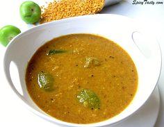 Thakklai kai Pitlai – Thick Lentil Soup with Tomatillo | Spicy Tasty