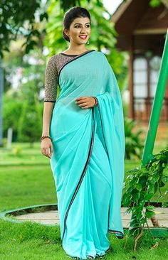 We are very much aware of changing fashion trends and we keep that in our designing. Choli Blouse Design, Blouse Designs, Fashion Maker, Plain Saree, Chiffon Saree, Fancy Sarees, Saree Styles, Stylish Dresses, Indian Outfits
