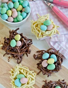Chocolate Easter Nests (made with chowmein noodles)