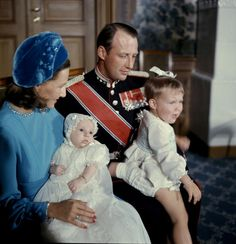 The christening of Prince Haakon Magnus of Norway, 1973.