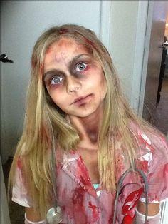 Moms special fx makeup and handmade costume dead nurse