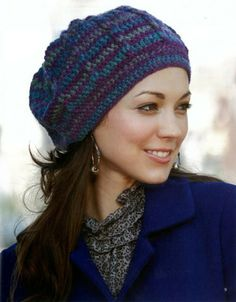 Do you love to crochet quick gifts? These stylish beanies and headwraps by Lisa Gentry stitch up in a weekend or less! You'll enjoy creating the exciting fashions with pretty shells, cables, ripples, Crochet Adult Hat, Crochet Cap, Easy Crochet, Crochet Stitches, Free Crochet, Crochet Slouchy Beanie, Knitted Hats, Beanie Pattern, Crochet Patterns For Beginners