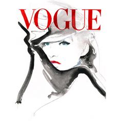 Large Canvas Print, Ready to hang, Vogue Cover Art . Watercolour... (£175) ❤ liked on Polyvore featuring home, home decor, wall art, white home decor, white canvas wall art, white wall art, canvas home decor and canvas wall art