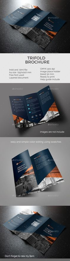 Trifold Brochure - Corporate Brochures Download here : https://graphicriver.net/item/trifold-brochure/19485443?s_rank=7&ref=Al-fatih