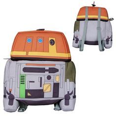 Put a droid buddy on your back with this Star Wars Rebels Chopper Back Buddy Backpack. Why carry all of your books and other stuff when Chopper can carry it for you?   It's Chopper from the animated TV series Star Wars Rebels and