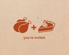 12 Thanksgiving invitations turkey & pumpkin by girlingearstudio, $16.00