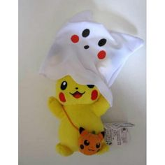 Pokemon Center 2012 Halloween Pikachu Ghost Plush Toy